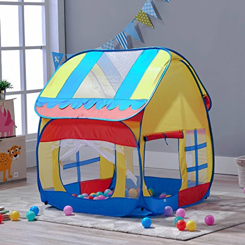 A LOVE BRAND Children Play Tent for Kids Toddler Outdoor Indoor Pop up Playhouse Ball Pit 33.5''x39.4''