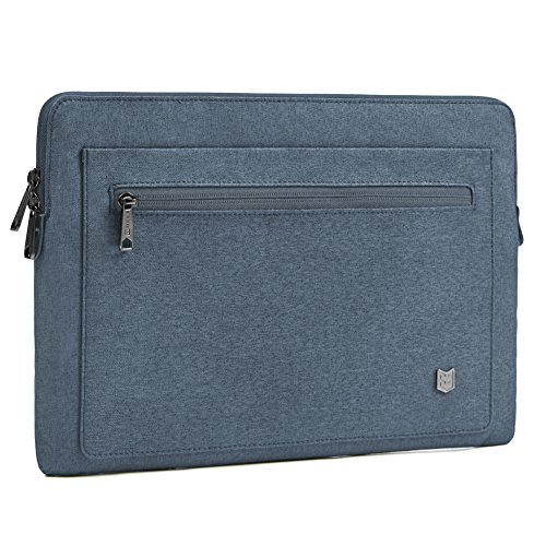 Evecase 13-13.3 inch City Laptop Sleeve Water Resistant Durable Professional Business Neoprene Bag for MacBook Pro, MacBook Air, 12.9 iPad Pro Tablet, Ultrabook Chromebook and More - Navy Blue