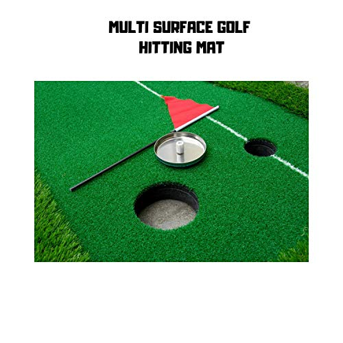 Paradise Treasures Golf Putting Green System Professional Practice Green Long Challenging Putter Indoor/Outdoor Golf Simulator Training Mat Aid Equipment Gift for Dad (1.5ftx10 auto Return Green) by Paradise Treasures (Image #3)