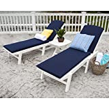 Cheap Nautical 3 Piece Chaise Set with Cushions