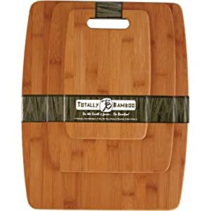 Totally Bamboo 20-7920 3-Piece Bamboo Cutting Board Set