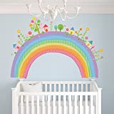 azutura City Rainbow Wall Sticker Childrens Wall Decal Nursery Home Decor available in 8 Sizes XX-Large Digital