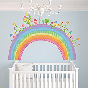 City Rainbow Wall Sticker Childrens Wall Decal Nursery Home Decor Available  In 8 Sizes Gigantic Digital