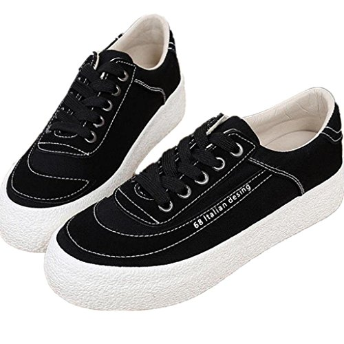 Estudiantes Señora Cómodo Khaki Movimiento Shoes 38 Literarios Retro BLACK Bottom XIE Shoes Tres Ocio Espeso 37 Canvas Colores 0qBFdAx