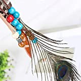 Campsis Indian Peacock Feather Headbands Boho