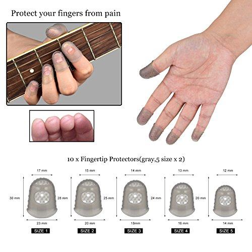 guitar picks guitar finger protectors thumb finger picks pick holder music page clip. Black Bedroom Furniture Sets. Home Design Ideas