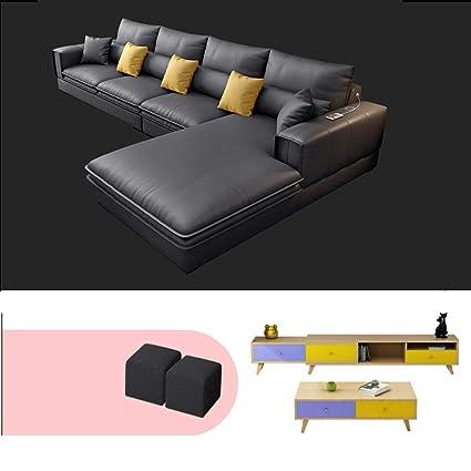 DNNAL Sofá de Tela Muebles Modernos Simples Combinados de la ...