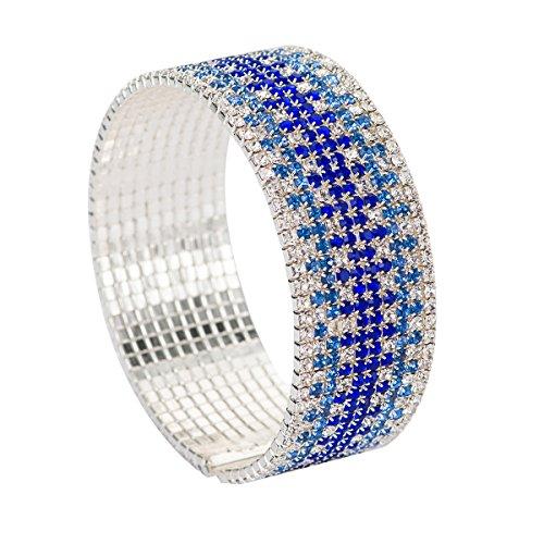 FUFENG CROWN Gradual Blue Bracelet Hand catenary For Women …