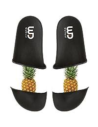 Pineapple Summer Non-slip Slide Sandals Home Shoes Beach Swim Flip Flops Indoor and Outdoor Slipper Women Men