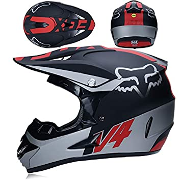 NBZH Adulto Fuera De Carretera Casco Dot Dirt Bike Motocross ATV Moto Offroad/Gafas/