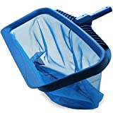 Stargoods Pool Skimmer Net, Heavy Duty Leaf Rake Cleaning Tool, Fine Mesh Net Bag Catcher