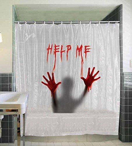 SunStar Industries Help Me Shower Curtain,White,One-Size (Help Me Shower Curtain)