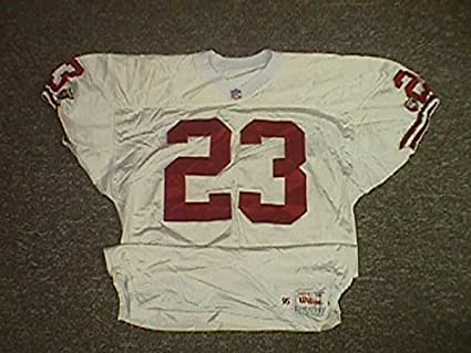 the latest 79791 66220 Marquez Pope. San Francisco 49ers 1995 Game Worn Jersey at ...