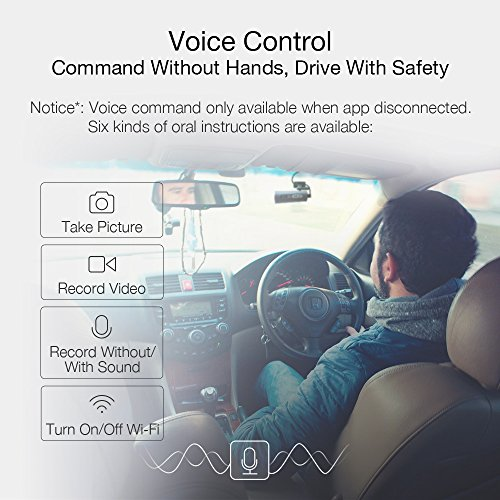 70mai Smart Dash Cam with Built-in Wifi, Featuring Voice Control, Emergency Recording, APP Control Dashboard, HD 1080P, 130° Wide Angle Car Camera Recorder with Night Vision, G-Sensor, Car DVR by 70mai (Image #1)