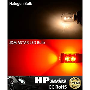 JDM ASTAR Extremely Bright Max 50W High Power 7440 7441 7443 7444 992 LED Bulbs ,Brilliant Red ( Only work for standard socket , not for ck socket)