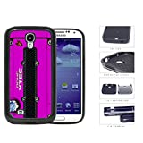 Honda JDM Series 2-Piece Dual Layer High Impact Black Silicone Phone Case Samsung Galaxy s4 sIV I9500 (Pink)