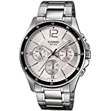 Casio Enticer Chronograph White Dial Men's Watch - MTP-1374D-7AVDF (A833)