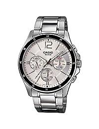 Casio #MTP1374D-7AV Men's Standard Metal Band Multi-Function Silver Dial Watch