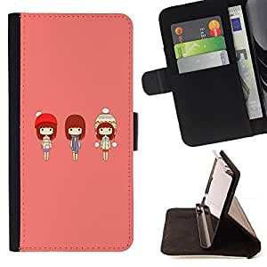 DEVIL CASE - FOR Apple Iphone 6 - Cute Japanese Girls - Style PU Leather Case Wallet Flip Stand Flap Closure Cover