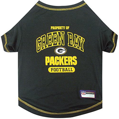 - Pets First Green Bay Packers T-Shirt, X-Small