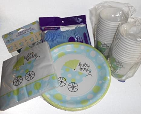 Amazoncom Baby Boy Shower Party Supplies Plates Napkins