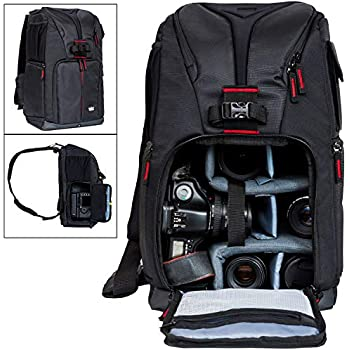 Deco Gear DSLR Camera Backpack, Customizable Compartments for Cameras, Lenses, Accessories & 15 Laptop, Weather Protective, Perfect for Canon Nikon & Sony ...