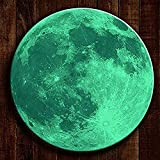 BOLLEPO Glow in The Dark Moon 30cm Night Light Glowing Luminous Wall Art Stickers Removable Adhesive Wall Decal for Kids Boy and Girl Bedroom