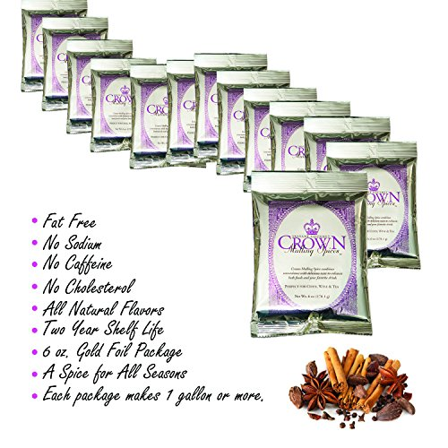 Mulling Spices Instant Gourmet Mix   Crown Mulling for Apple Cider Wine Juice Tea Cake Bread Cookies   Free Recipe Booklet Included   Thanksgiving Stocking Stuffers Christmas Gift 6 Oz (FourPack) by TwoStripes (Image #2)