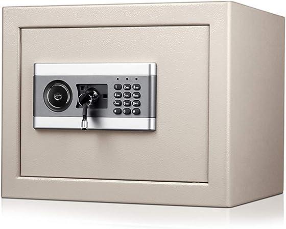 CHB 30CM Alto y pequeño Seguro de contraseña electrónica Caja Fuerte de la Oficina Caja Fuerte del hogar Puede Entrar en la Caja Fuerte de la Pared: Amazon.es: Hogar