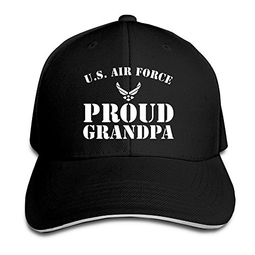 Proud U.S. Air Force Grandpa Adjustable Baseball Hat Dad Hats Trucker Hat Sandwich Visor Cap