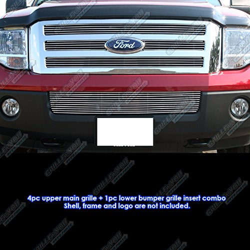 APS Fits 2007-2014 Ford Expedition Billet Grille Grill Insert Combo #F67832A