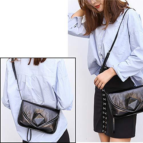 Femme Noir Porté a Sac a Sac épaule Cartable Sac Vintage Cuir Petit Main Noir Bandouliere rCrwqU