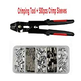 Crimping Tool Kit-JSHANEMI High Carbon Steel Crimper Sleeves Tool Kit Wire Rope Swager Terminal and Connection Kit Crimpers Swivels Snaps Up To 0.1mm~2.2mm Premium Rigging Kit