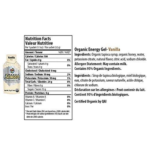 Honey Stinger Organic Energy Gel - Vanilla (6 x 1.1oz Packs)