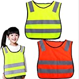 CHRWANG Safety Vest, Kids Reflective Safety Waistcoat Student High Visibility Warning Work Clothing