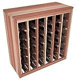 Wine Racks America Redwood 36 Bottle Deluxe. Unstained