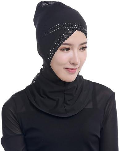 Women Under Scarf Hat Cap Bone Bonnet Ninja Hijab Islamic Neck Cover Muslim Hat