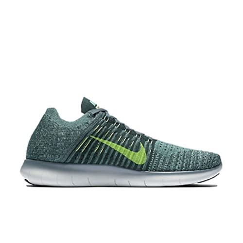 0bc1643ce1b7 Nike Free RN Flyknit Men s Running Shoes Hasta Seaweed Green Glow Ghost  Green