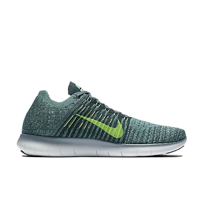 f8d9b5c85 Nike Free RN Flyknit Men's Running Shoes Hasta/Seaweed/Green Glow/Ghost  Green 831069-304 Size 9.5: Buy Online at Low Prices in India - Amazon.in