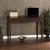 Southern Enterprises 2 Drawer Writing Desk 42' Wide, Espresso Finish
