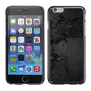 TopCaseStore / la caja del caucho duro de la cubierta de protección de la piel - Black Texture - Apple iPhone 6 Plus 5.5