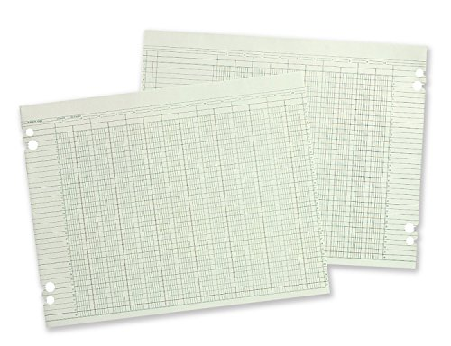 Wilson Jones Columnar Ruled Sheets, 11'' x 17'', 36 Lines, 30 Columns, 100/Pack (W50-30A) by Wilson Jones