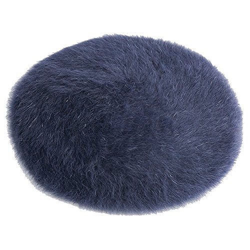 Insun Women's Fashion Solid Color Winter French Fur Berets Hats Navy