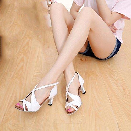 Sociale chaussures performance Xue boucle danse Salon été Hauts Sandales Pour amp; Carrée Personnalisable Danse talons Souliers Latins De En Soirée Femmes Daim Chaussures B qOwxfRpnq