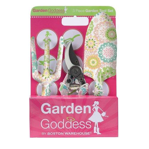 Boston Warehouse Doilies Garden 3-Piece Garden Tool Set (Discontinued by Manufacturer)