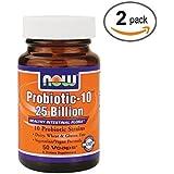 Now Foods Probiotic-10 25 Billion - 50 Vcaps 2 Pack