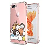 iPhone 7 Plus 8 Plus Case Cat Clear with Design Cute & Funny Cat Pattern Bumper Protective Case for Apple iPhone 7 Plus 8 Plus 5.5 Inch Gel Flexible TPU Silicone Shockproof Pet Pile Kitty Cats Cover