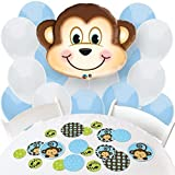 Big Dot of Happiness Monkey Boy - Confetti and Balloon Party Decorations - Combo Kit