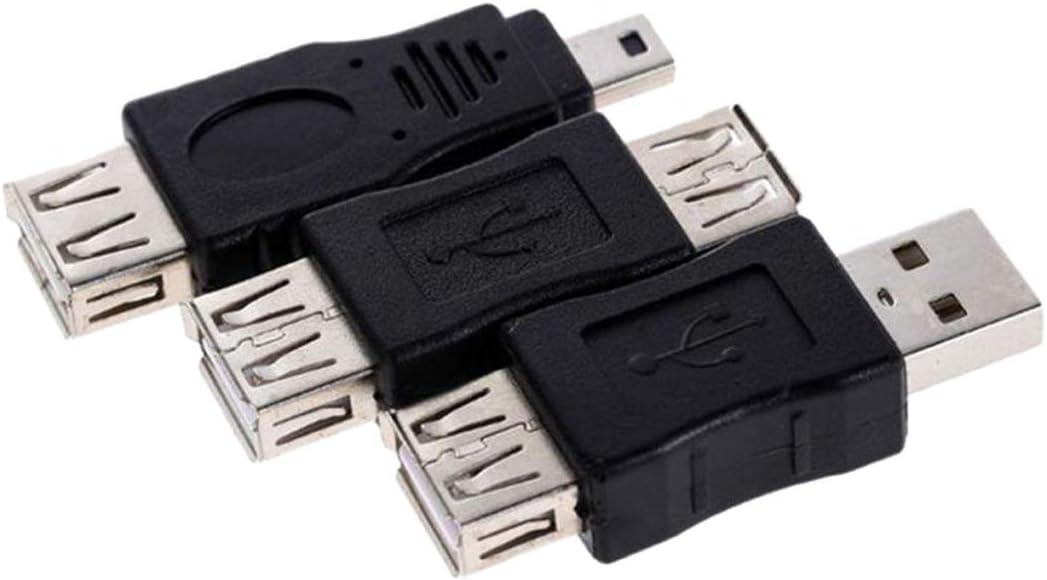 NoyoKere 10 St/ück OTG Mini 5 Pin Adapter Stecker auf Micro Buchse USB Konverter