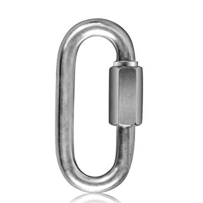 Stainless Steel Carabiner Clip Use for NinjaLine Hanging Monkey Bars Fists Gymnastic Rings Swing Rope Ladder: Kitchen & Dining [5Bkhe1106802]